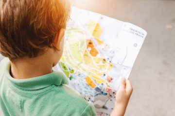 Child with a map